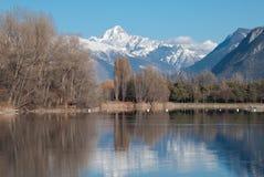 Reflexão no lago Fotos de Stock
