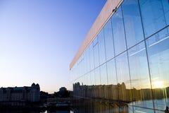 Reflexão nova do horizonte do projeto da ópera Foto de Stock Royalty Free