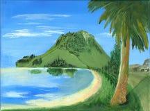 Reflexão pintada da praia Imagem de Stock
