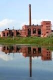 Reflexão quebrada da fábrica Fotografia de Stock