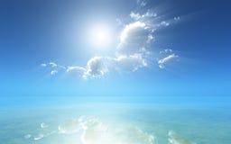 Reflexão sonhadora do oceano Fotografia de Stock Royalty Free
