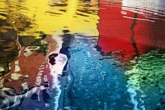 Reflexões abstratas da água Fotografia de Stock Royalty Free