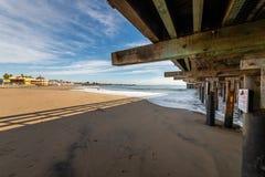 Reflexões ao longo de Santa Cruz Beach Boardwalk imagens de stock royalty free