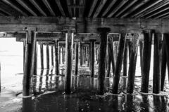 Reflexões ao longo de Santa Cruz Beach Boardwalk foto de stock royalty free