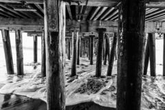 Reflexões ao longo de Santa Cruz Beach Boardwalk fotos de stock royalty free