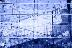 Reflexões azuis abstratas Fotos de Stock Royalty Free