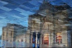 Reflexões da estação em um dia chuvoso Imagem de Stock