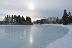 Reflexões da lagoa de janeiro Foto de Stock Royalty Free