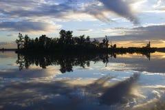 Reflexões da noite Foto de Stock Royalty Free