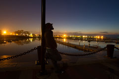 Reflexões da noite atrasada Foto de Stock Royalty Free