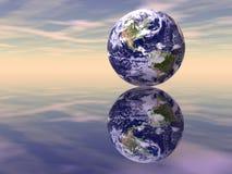 Reflexões da terra fotos de stock