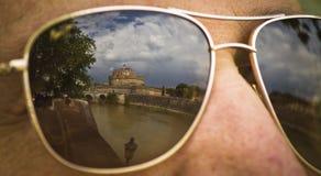 Reflexões de Roma fotografia de stock