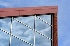 Reflexões de vidro fotografia de stock royalty free