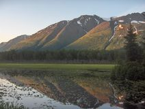 Reflexões do Alasca Fotografia de Stock