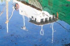 Reflexões do barco Fotografia de Stock Royalty Free