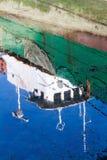 Reflexões do barco Foto de Stock
