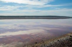 Reflexões do céu na lagoa de Hutt fotos de stock