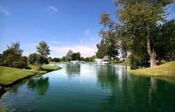 Reflexões do campo de golfe imagem de stock