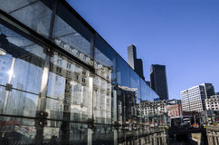 Reflexões do centro de Seattle Foto de Stock