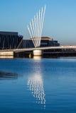 Reflexões do dia em uma água tranquilo Fotografia de Stock Royalty Free
