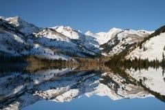 Reflexões do inverno fotografia de stock royalty free
