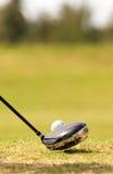 Reflexões do jogador de golfe Imagens de Stock Royalty Free