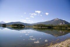Reflexões do pico um fotografia de stock