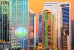 Reflexões do por do sol Imagens de Stock Royalty Free