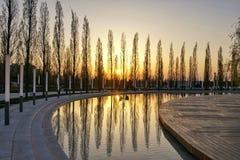Reflexões do por do sol Imagem de Stock Royalty Free