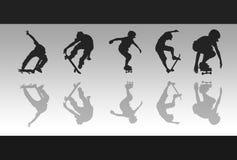 Reflexões do skate Imagens de Stock Royalty Free