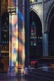 Reflexões do vitral Imagem de Stock