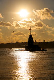 Reflexões em Bosphorus Fotografia de Stock Royalty Free