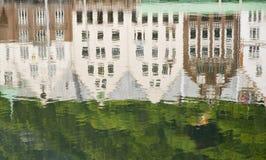 Reflexões em Bryggen Imagem de Stock Royalty Free