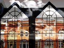 Reflexões espelhadas Fotografia de Stock Royalty Free
