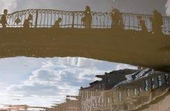 Reflexões na água Imagens de Stock