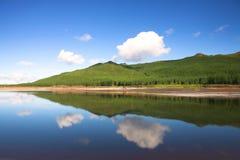 Reflexões na represa de Nuweberg Foto de Stock Royalty Free
