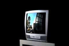 Reflexões na televisão Fotos de Stock Royalty Free