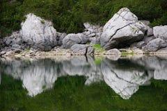 Reflexões no lago Foto de Stock Royalty Free