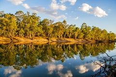 Reflexões no rio Fotografia de Stock