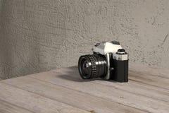 Reflex analoge camera stock illustratie
