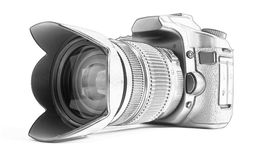 Reflex camera. (isolated on white background stock illustration