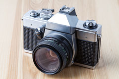 Reflex camera, closeup Royalty Free Stock Photo