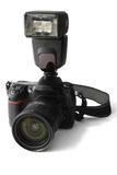 Reflex Camera with Flash Royalty Free Stock Image