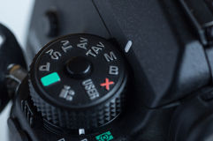 Reflex camera mode dial Royalty Free Stock Image