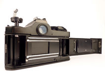 Reflex des einzelnen Objektivs - Filmkamerarückseite Lizenzfreies Stockfoto