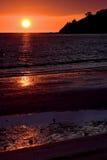 Reflex des Sonnenuntergangs in Madagaskar Stockfotos
