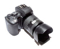 Reflex digital camera. With goal Royalty Free Stock Photo