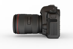 Reflex Digital Camera, Lateral View Royalty Free Stock Photos