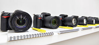 Reflex digital cameras in the classroom photoschool stock photo
