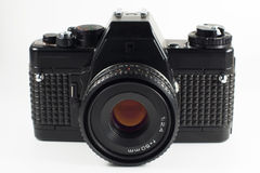 Reflex geïsoleerdee filmcamera Stock Foto's